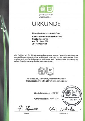ÜWG-Urkunde