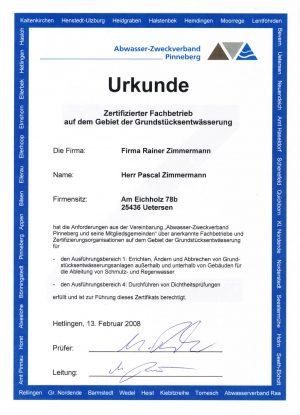 AZV Zertifizierter Fachbetrieb